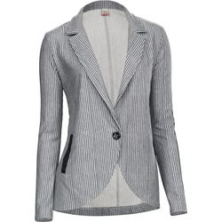 Sweatblazer gestreift